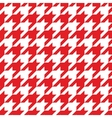 Houndstooth tile red and white pattern background vector image