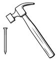 Hammer and nail vector image