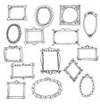 Set of hand drawn frames vector image