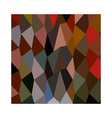 Burnt Umber Abstract Low Polygon Background vector image vector image