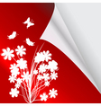red page with flower vector image