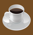 realistic of a coffee cup vector image