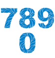 Ornamental figures soft blue numbers decorated vector image