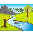 Landscape with nature and river vector image