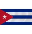Cuba waving flag vector image