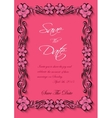 flotal frame Silhouette for invitation and vector image