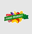 Food market sign vector image