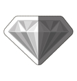 Isolated diamond design vector image