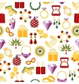 Jewelry seamless pattern background vector image