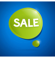 sale bubble vector image