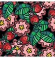 Seamless pattern with wild rose flower and vector image