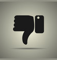 thumbs down icon vector image