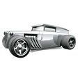 Silver Hot Rod vector image