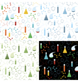 Seamless pattern of chemistry lab vector image