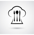 Cutlery with cap vector image