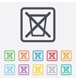 Do not throw in trash Recycle bin sign icon vector image