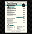 Restaurant Breakfast menu design Template layout vector image