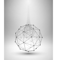 Wireframe Globe Sphere with connected lines and vector image