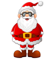 cartoon santa posing vector image