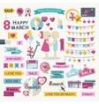 Happy Women Day set vector image