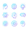linear icons and design elements vector image