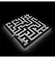Maze labyrinth on black background vector image