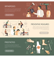Orthopedics And Traumatology Horizontal Banners vector image