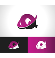 Swoosh Alphabet Icon Q vector image