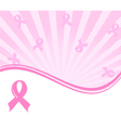 pink ribbons background vector image vector image