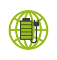 battery and plug icon vector image