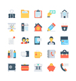 Office and Stationery Icons 5 vector image