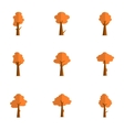 flat of tree various vector image