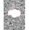 black and white abstract decorative pattern with vector image vector image