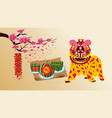Cooked square glutinous rice cake vietnamese new vector image