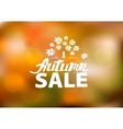 Autumn sale - hand drawn lettering vector image vector image