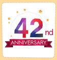 colorful polygonal anniversary logo 2 042 vector image vector image