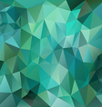 green emerald polygon triangular pattern vector image