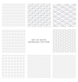 White textures - seamless collection vector image