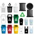 color recycle bin vector image