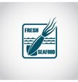 monochrome seafood icon vector image vector image