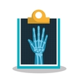 hand radiography isolated icon design vector image