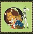 children book cartoon fairytale alphabet letter o vector image