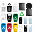 color recycle bin vector image