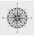 Compass rose over grid vector image