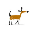 funny dog sketch for your design vector image