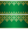 green card with gold vintage ornament vector image