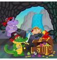 pirates found treasure in a cave vector image
