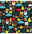 Seamless pattern with abstract Santa vector image