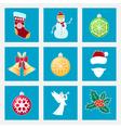 Set of Colorful Christmas Icons vector image