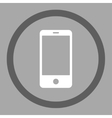 Smartphone flat dark gray and white colors rounded vector image
